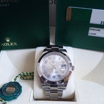 Rolex Datejust II 41mm Stainless Steel Silver Rhodium Arabic Dial