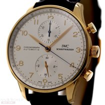 IWC Portugieser Chronograph 18K Rose Gold Ref-IW371480 Papers...
