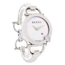 Gucci 122 Chiodo Ladies Diamond Mop Dial Swiss Quartz Watch...