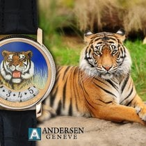 Andersen Genève Montre A Tact Or Gris Tigre