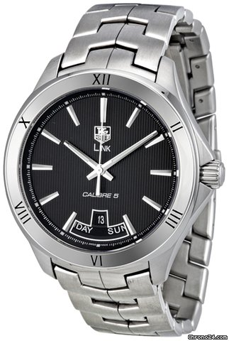 TAG Heuer Link Calibre Black Dial Stainless Steel Mens Watch WAT2012.BA0951