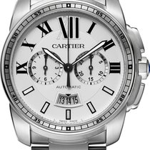 Cartier Calibre Silver Dial Chronograph Automatic W7100045 T