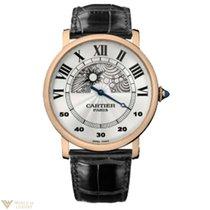 Cartier Rotonde de Cartier Jour et Nuit 18k Rose Gold Men`s Watch
