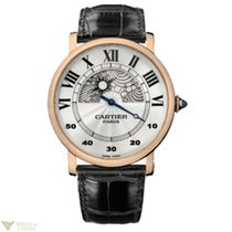 Cartier Rotonde de Cartier Jour et Nuit 18k Rose Gold Man`s Watch