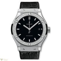 Hublot Classic Fusion Automatic Titanium Diamonds Leather...