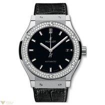 Hublot Classic Fusion Automatic Titanium Diamonds Leather...