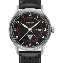 Junkers G38 Quartz Watch Gmt 2nd Time Zone 42mm Steel Case...