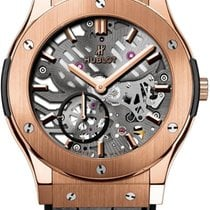 Hublot Classic Fusion Classico Ultra-thin skeleton King Gold...