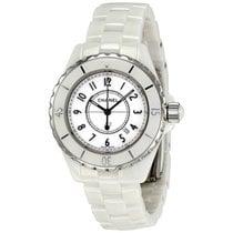 Chanel Ladies H0968 J12 Quartz White Ceramic Watch