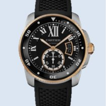 Cartier Calibre de Cartier Diver Stahl Gold Kautschuk -NEU-