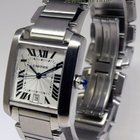 Cartier Large Tank Francaise Steel Automatic Watch On Bracelet...