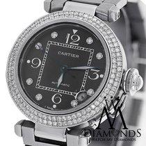 Cartier Pasha Automatic Midsize Diamond Bezel Stainless Steel...