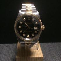 Rolex Datejust 36 mm Gold & Stahl, Diamant Zifferblatt