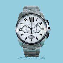 Cartier Calibre de Cartier Chronograph Stahl weiß -NEU-