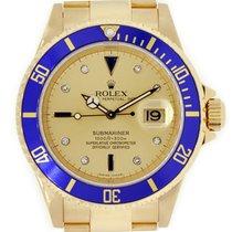Rolex Submariner 18K Yellow Gold Serti Diamond Dial
