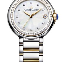 Maurice Lacroix Fiaba. 32, Diamond Bezel Pearl Dial, Gold...