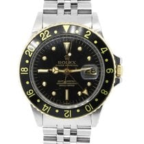 Rolex 1675 GMT Master Two Tone Black Dial Watch