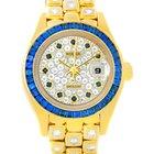 Rolex Masterpiece Pearlmaster Yellow Gold Diamond Sapphire...