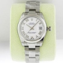 Rolex Datejust 31mm Steel White Roman Dial 2016