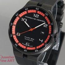 Porsche Design Flat Six Automatik Stahl/Kautschuk schwarz