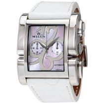 Milus Apiana Pink Mother of Pearl Chronograph Automatic Ladies...
