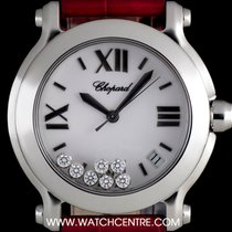 Chopard S/Steel White Dial Happy Sports Date Ladies 278475-3001