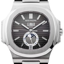 Patek Philippe Nautilus 5726A-001 Steel with Leather Strap Watch