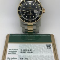 Rolex 16613LN M series Gold Steel Submariner Black Dial and Bezel