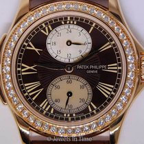 Patek Philippe Travel Time 4934 18K Rose Gold Pearl &...