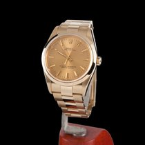 Rolex Oyster Perpetual Yellow Gold Men Size