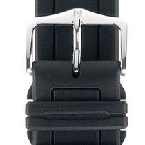 Hirsch Uhrenarmband Hevea schwarz L 40458850-2-20 20mm