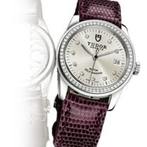 Tudor Glamour Date 36 Mm Automatic Bordeaux Leather Strap