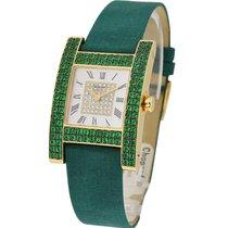Chopard 136818-0006 H Watch with Green Emerald Bezel - Yellow...