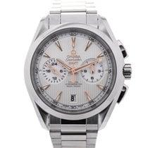 Omega Seamaster Aqua Terra Co-Axial GMT Chronograph 43 Silver