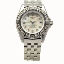 Breitling Callistino Steel Quartz 28mm MOP Diamond-Set Dial...