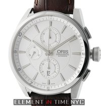 Oris Artix Chronograph Stainless Steel 44mm Silver Dial
