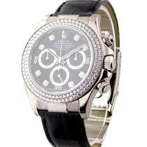 Rolex Unworn 116589RBR bkd White Gold DAYTONA on Strap SPECIAL...