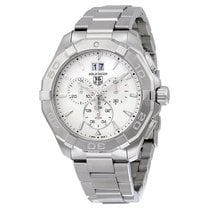 TAG Heuer Aquaracer Chronograph Silver Dial Mens Watch...