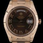 Rolex 18k R/G Unworn Chocolate Roman Dial Daydate II Gents...