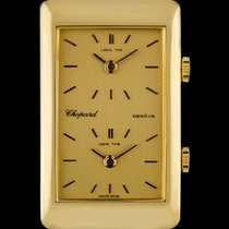 Chopard 18k Yellow Gold Champagne Dial Dual Time Zone Gent