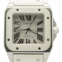 Cartier Santos 100 White Ladies Stainless Steel Automatic 33mm...