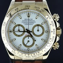 Rolex Daytona Yellow Gold Croco Strap White Dial,Full Set 2003