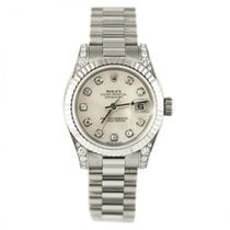 Rolex Datejust 26 179239 White Mother of Pearl Diamond New