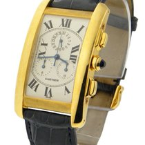 Cartier W2601156 Tank Americaine - Chronograph - Yellow Gold...