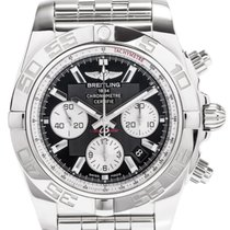 Breitling Chronomat 44 Black Dial Automatic Steel Men Watch...