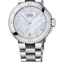 Oris Aquis Date 36, Mother of Pearl Dial, Steel Bracelet