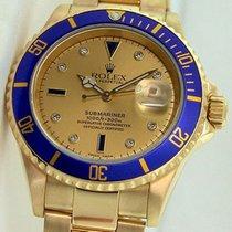 Rolex Submariner 18K Solid Yellow Gold Diamonds