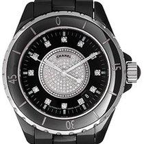 Chanel J12 Black Ceramic Automatic Midsize Unisex Watch H1757