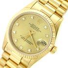 Rolex DateJust MidSize 31mm 68278 18k Gold President Watch