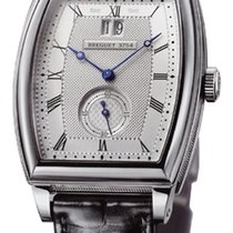 Breguet Heritage Big Date Silver Dial 18kt White Gold Black...